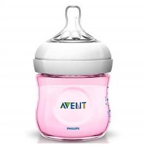 Biberon Natural Philips Avent, Roz 125 ml