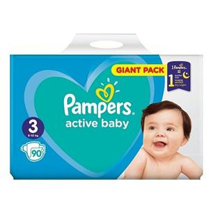 Pampers 3 Active Baby Dry P&G 90 buc