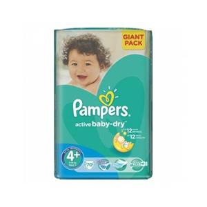 Pampers 4+ Active Baby Dry P&G 70 buc