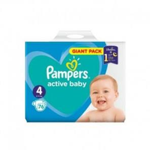Pampers 4 Active Baby Dry P&G 76 buc