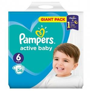 Pampers 6 Active Baby Dry P&G 56 buc