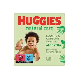 Servetele Umede Huggies Natural Care 2+1 Gratis